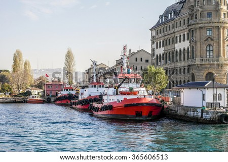 Istanbul fire boats.