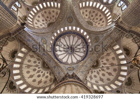 ISTANBUL, TURKEY - APRIL 12, 2016: Blue Mosque in Istanbul, Turkey.