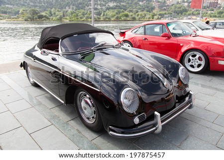ISTANBUL, TURKEY - JUNE 07, 2014: Porsche 356 Speedster in Istanbul Concours d'Elegance. Concours d'Elegance referring to the gathering of prestigious cars over 100 years.