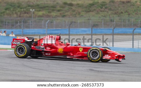 ISTANBUL, TURKEY - OCTOBER 26, 2014: F1 Car in F1 Clienti during Ferrari Racing Days in Istanbul Park Racing Circuit