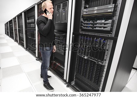 It consultant works in large enterprise datacenter