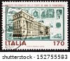 ITALY - CIRCA 1979: a stamp printed in Italy celebrates Italian State Mint and Polygraphic Institute. Italy, circa 1979  - stock photo