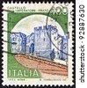 "ITALY - CIRCA 1980: A stamp printed in Italy from the ""Castles"" issue shows Emperor's Castle, Prato, circa 1980. - stock photo"