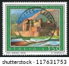 ITALY - CIRCA 1976: stamp printed by Italy, shows Fenis castle in Aosta, circa 1976 - stock photo