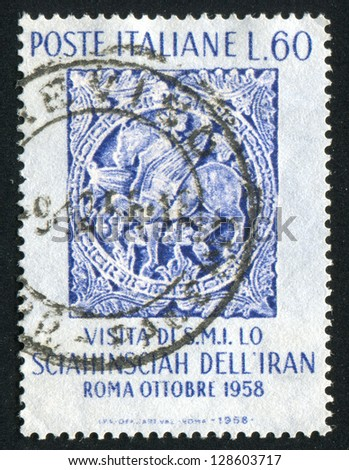 ITALY - CIRCA 1958: stamp printed by Italy, shows Persian Style Bas-relief, Sorrento, circa 1958