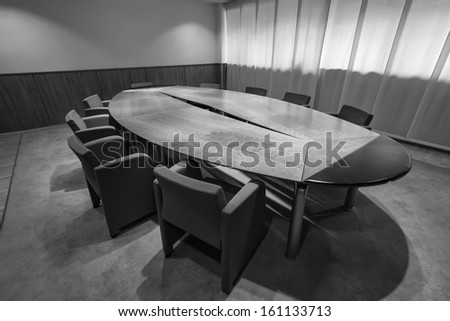 Italy, office business meeting room