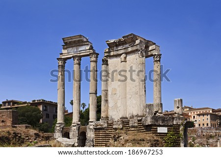 Italy Roman Empire Ruins In Rome Ancient Forum