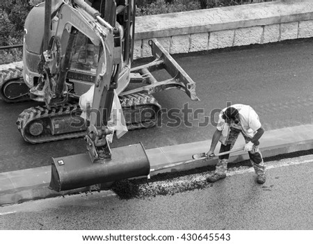 Car Turned Upsidedown After Road Collision Stock Photo