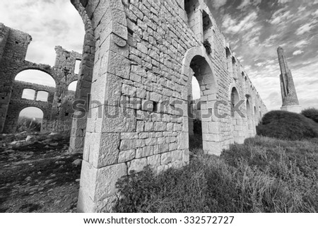 Italy; Sicily, Sampieri (Ragusa Province), ruins of an old bricks factory