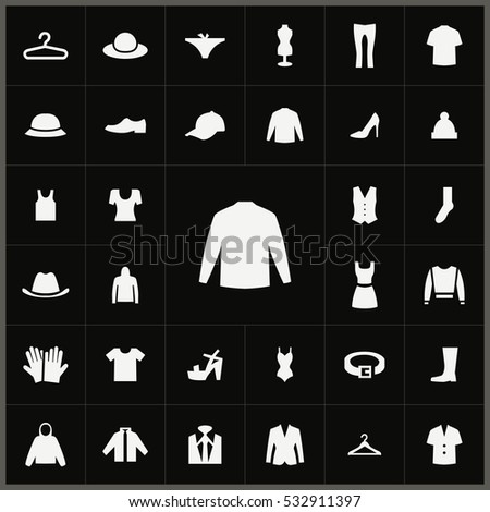 jacket icon. clothes icons universal set for web and mobile