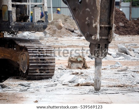 jackhammer at construction site
