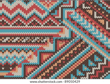 Jacquard Knitting Patterns : jacquard knit pattern - stock photo