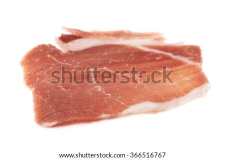 Jamon ham slice isolated