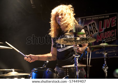 JANESVILLE, WI - JULY 16: Steven Adler (Guns n' Roses) performs with Adler's Appetite on their 2010 U.S. tour on July 16, 2010 in Janesville, WI.