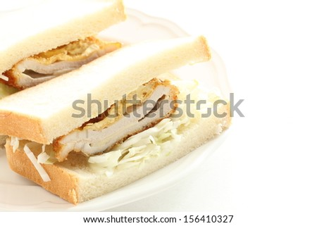Japanese food, Donkatsu Pork cutlet sandwich