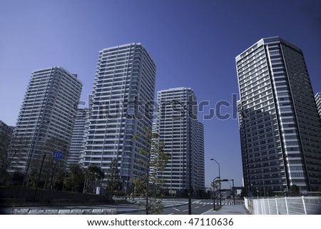 Japanese high-rise apartment group