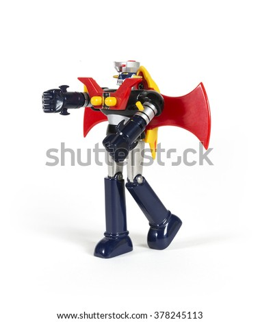 Japanese robot toy - with clipping path