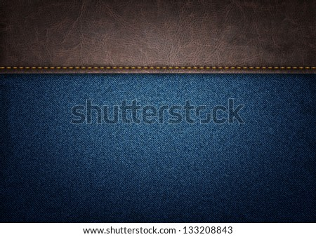 jeans and leather background