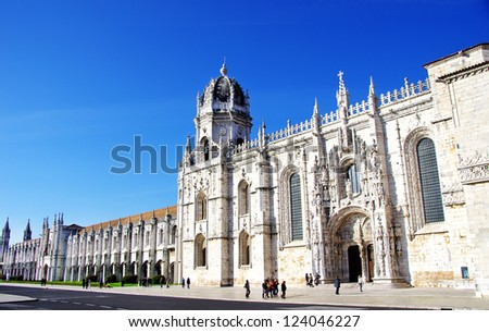 Jeronimos old  Monastery in Lisbon, Portugal