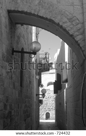jerusalem black white