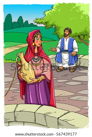 Parable Jesus Christ About Good Samaritan Stock