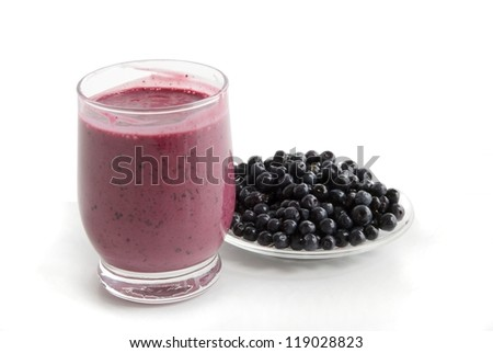 joghurt with blueberries as tasty wholesome dessert