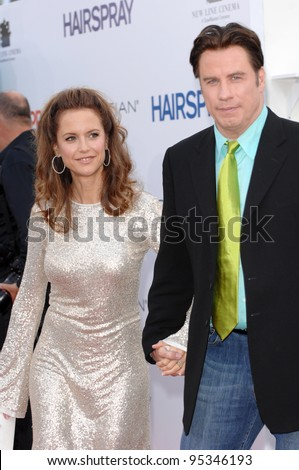 "John Travolta & Kelly Preston at the Los Angeles premiere of ""Hairspray"" at the Mann Village Theatre, Westwood. July 11, 2007  Los Angeles, CA Picture: Paul Smith / Featureflash"