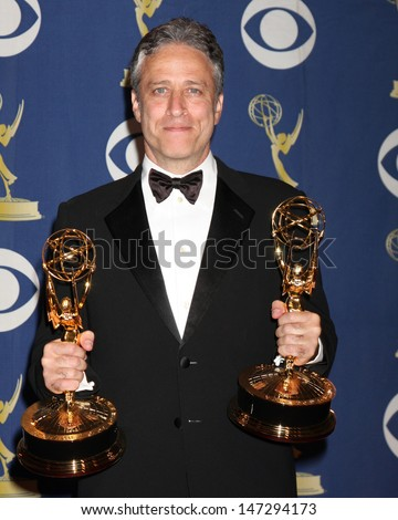 Jon Stewart In the Press Room  at the 2009 Primetime Emmy Awards Nokia Theater at LA Live Los Angeles, CA September 20, 2009