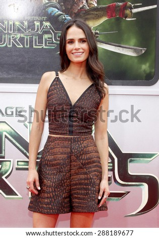 "Jordana Brewster at the Los Angeles premiere of ""Teenage Mutant Ninja Turtles"" held at the Regency Village Theatre in Los Angeles on August 3, 2014."