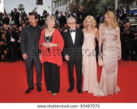 "Josh Brolin, Gemma Jones, Woody Allen, Naomi Watts & Lucy Punch at the premiere of ""You Will Meet A Tall Dark Stranger"" at 63rd Festival de Cannes. 5-15-10 Cannes, France By: Paul Smith / Featureflash"