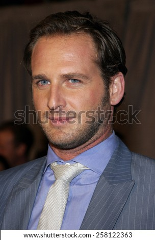 "Josh Lucas attends The Walt Disney and Jerry Bruckheimer Pictures World Premiere of ""Glory Road"" held at The Pantages Theater in Hollywood, California on January 5, 2006."