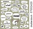 Jpeg Various phrases in comic balloons 1 - stock photo