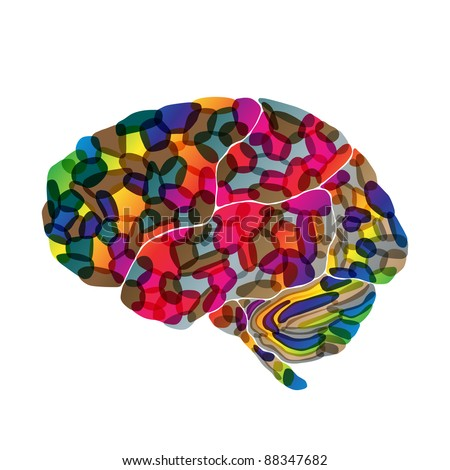 jpg, human brain, abstract background