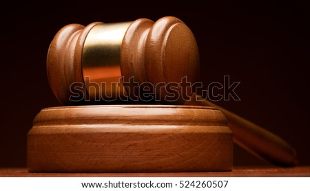 judge gavel on wooden background