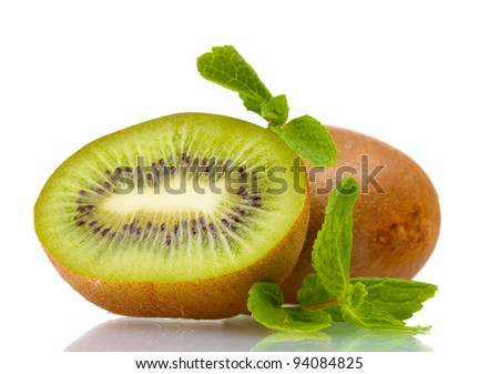Juicy kiwi isolated on white