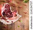 Juicy pomegranate - stock photo