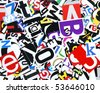 jumble of colorful letters - stock photo
