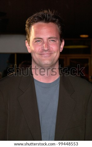 Jun 5, 2000 Actor MATTHEW PERRY at the world premiere, in Westwood, of Gone In 60 Seconds.