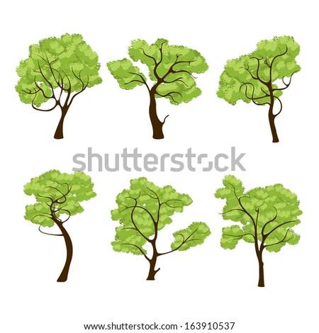 Similiar Cartoon Jungle Trees With Vines Keywords