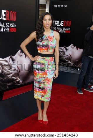 "Jurnee Smollett at the Premiere Of HBO's ""True Blood"" Season 7 And Final Season held at the TCL Chinese Theatre in Los Angeles on June 17, 2014 in Los Angeles, California."