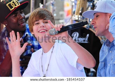 Justin Bieber on stage for NBC Today Show Concert with Justin Bieber, Rockefeller Plaza, New York, NY June 4, 2010