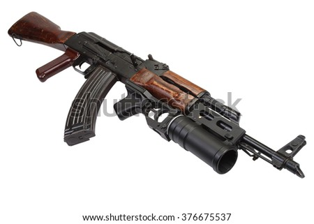 Kalashnikov AK 47 with 40mm GP-25 grenade launcher