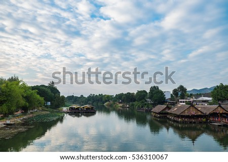 KANCHANABURI, THAILAND - DECEMBER 14: River view at The Forest Resort ...