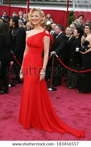 Katherine Heigl, wearing an Escada dress, at RED CARPET - 80th Annual Academy Awards Oscars Ceremony, The Kodak Theatre, Los Angeles, CA, February 24, 2008