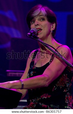 KATOWICE, POLAND - OCTOBER 8:  Marcia Ball on Rawa Blues Festival on OCTOBER 8, 2011 in Katowice, Silesia, Poland. The biggest in-door blues festival in the world.