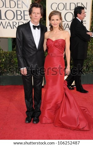 Kevin Bacon and Kyra Sedgwick at the 66th Annual Golden Globe Awards. Beverly Hilton Hotel, Beverly Hills, CA. 01-11-09