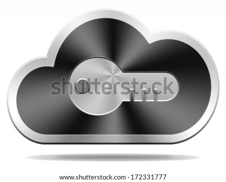 key giving access to cloud computing safety and security for personal data storage on server hard drive password secured