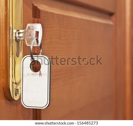 Opened Door Hotel Room Key Lock Stock Photo 383952526