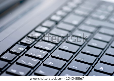 keyboard of a laptop