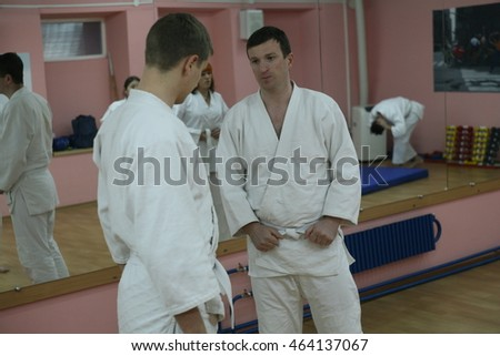 KHARKOV, UKRAINE - 1 AUGUST 2016: aikido training